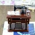 KAWO Creative Retro Old-Fashioned Sewing Machine Music Box Simulation Model Winding-up Toy
