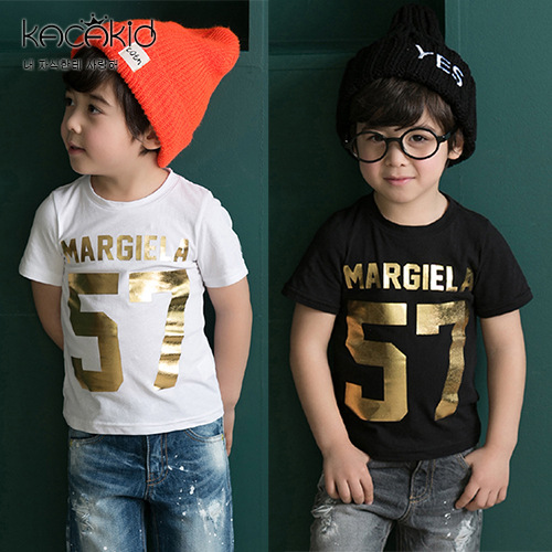 KACAKID T-Shirt Number Short-Sleeves Print Black Baby-Boy Kids Boy Fashion Cotton Summer