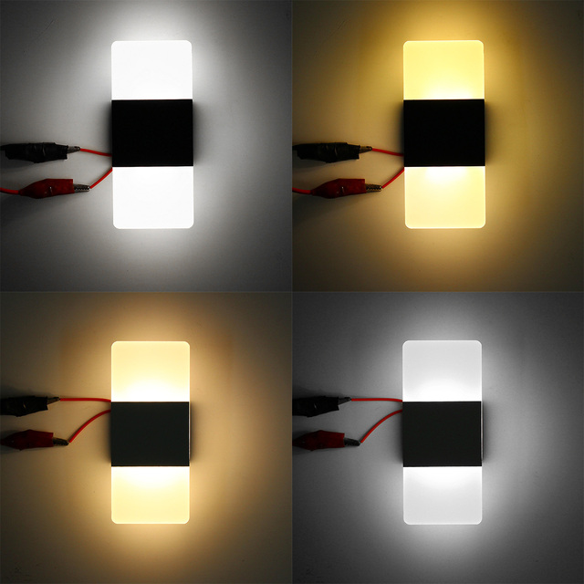 S/M/L Modern LED Round/Square Wall Light Simple  5