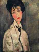 portrait picture wall art posters canvas prints pictures Imagich Top 100 prints Woman with Black Tie 1917 By Amedeo Modigliani