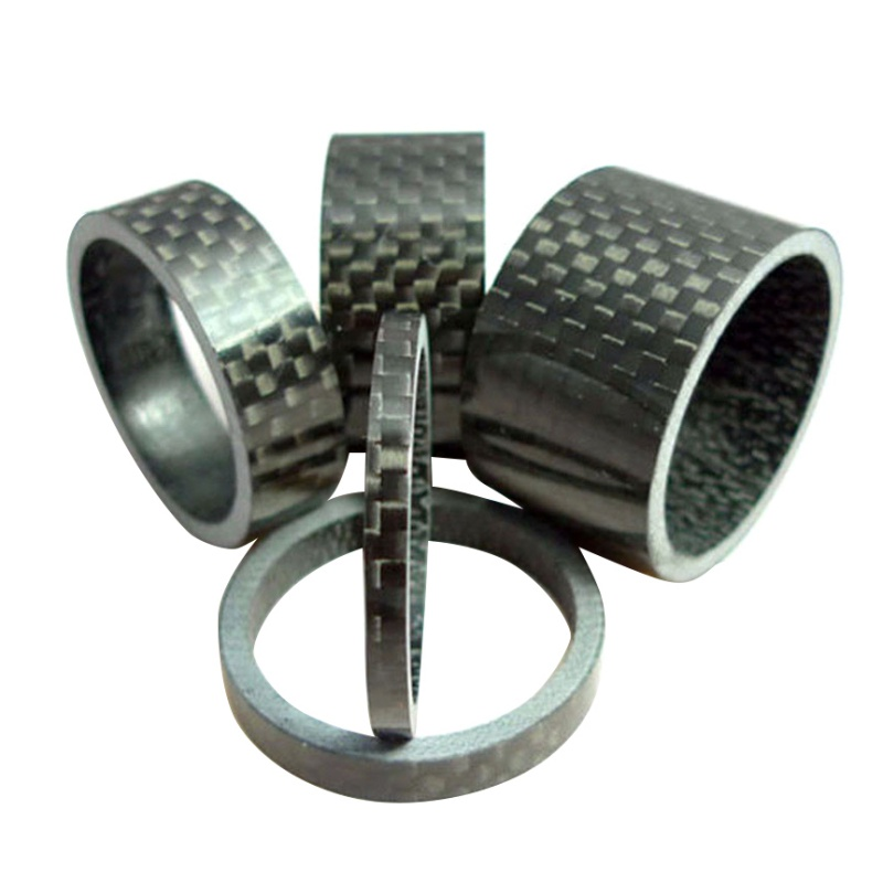 5 Pcs / Set Carbon Fiber Headset Bicycle Headlight Washer Bike Stem Spacers Kit For Bike Fix Refit