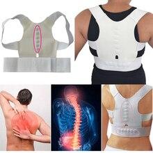 Для женщин Вернуться Brace Поддержка Корректор осанки корсет поясничного Поддержка ремень верхней части спины коррекции осанки Магнитная терапия боли