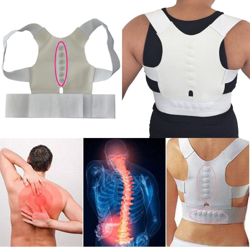 Women Back Brace Support Posture Corrector Corset Lumbar Support Belt Upper Back Posture Correction Magnetic Therapy Pain Relief