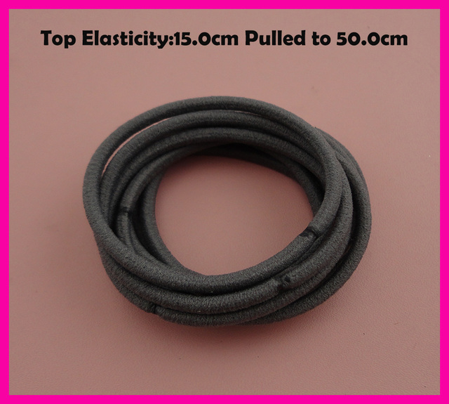 113PCS 13mm Top Elasticity Dark Gray Seamless Elastic Ponytail ...