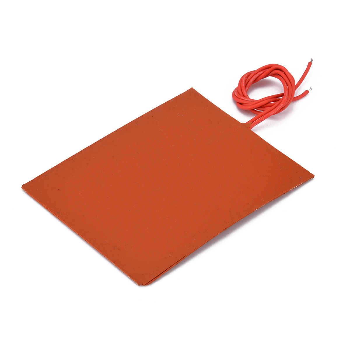 Silicone Heater Bed Pad 12V DC 80x100mm 20W  Waterproof Flexible Heating Pads Engine Oil Tank Electric Warming Mats