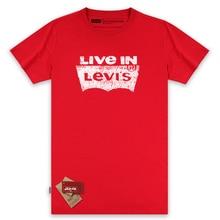 2017 Levi's New Arrival Casual Fashion Men T-Shirt Breathable Men Clothing Short Sleeved Male T-Shirt 3 Color Women Shirt