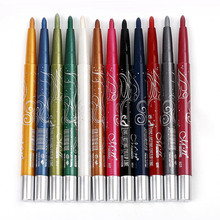 12 Colors  Eye Liner Make Up Pencil Sexy Women Black Waterproof Mini Long-lasting Eyeliner Cosmetic Pen Natural Eyeliner Pencil цена