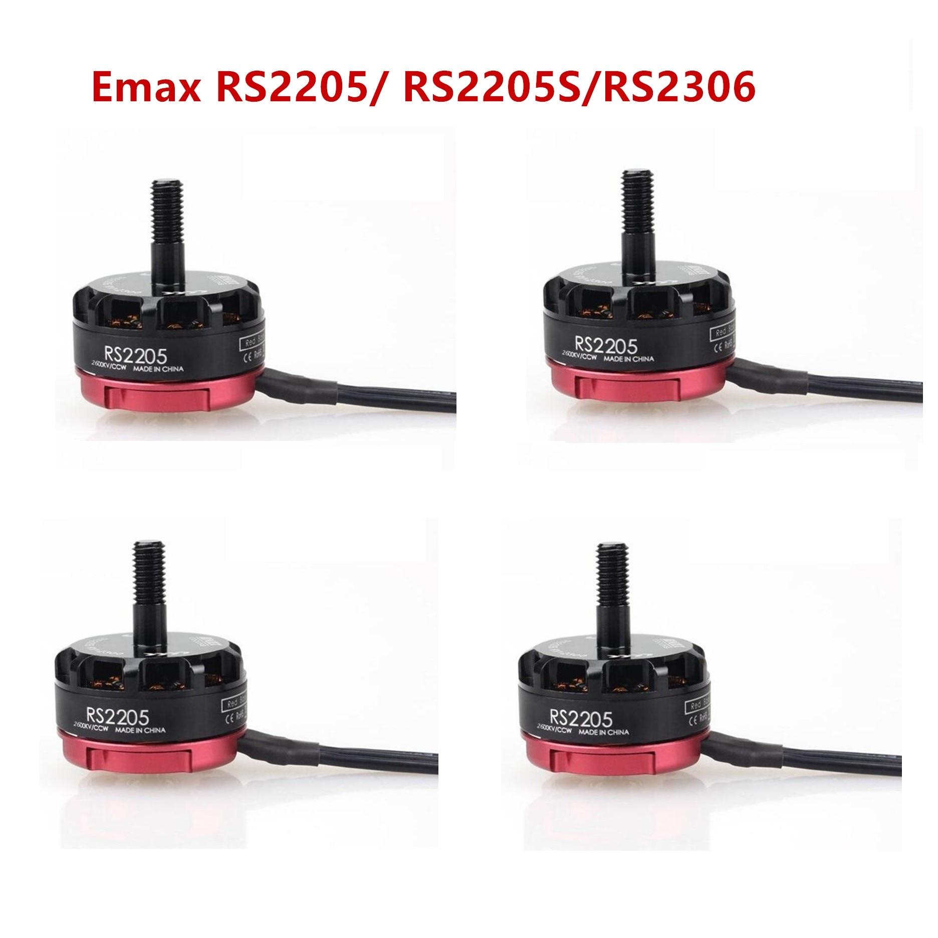 Emax RS2205/RS2205S 2300KV 2600KV CW/CCW Motor sin escobillas 2 piezas CW y 2 piezas CCW Motor y RS2306 2400 2475 KV Racing Edition