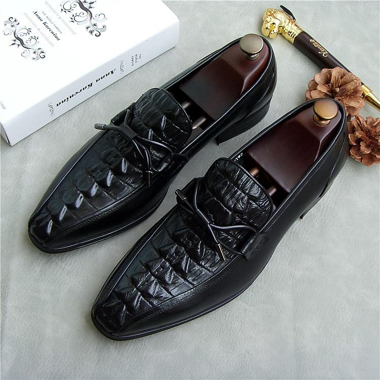 36958b72b7 FLASH SALE] Men Italian Leather Fashion Oxfords Shoes 2018 Spring ...