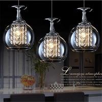 Wineglass Wine Glass Pendant Lights 3 Light Modern NEW Crystal Light Pendant Lamp Ceiling Hanging K9 restaurants lights FG784
