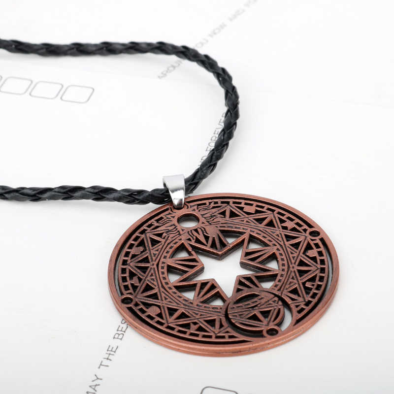 HANCHANG Hot Anime Cardcaptor Sakura Necklace Card Captor Figure Pendant Necklace Jewelry Cosplay Gift Girl Boys Christmas gift