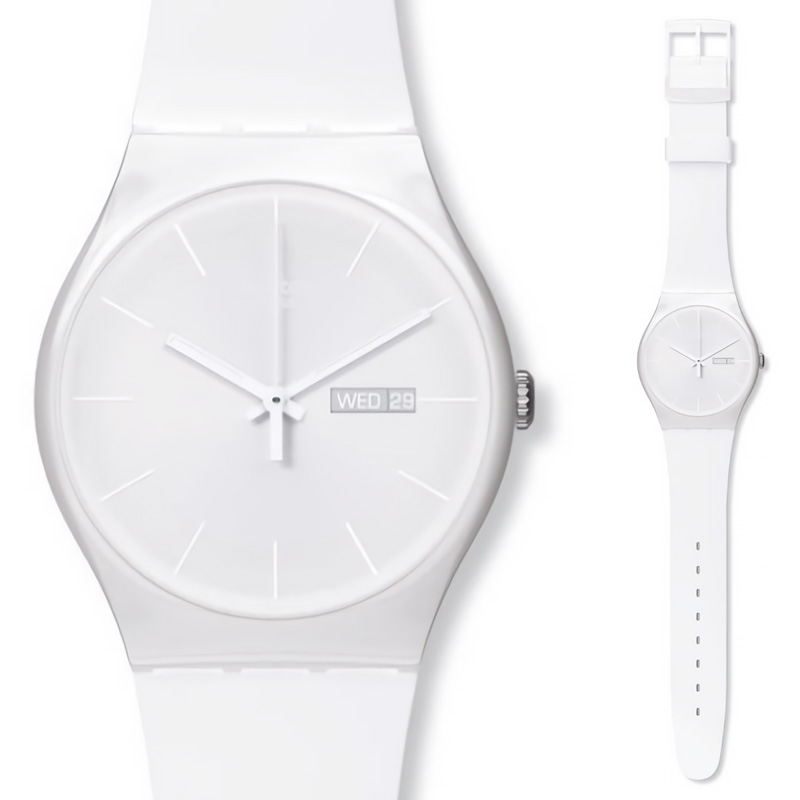 Swatch Watch quartz watch original colorful neutral white Innocent women s casual fashion SUOW701
