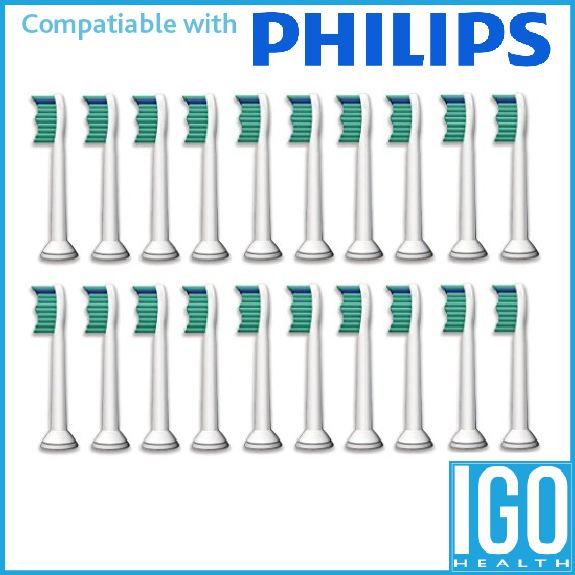20 pack VeniCare Compatible replacement tooth brush heads for Philips Sonicare ProResults - DiamondClean - EasyClean - FlexCare