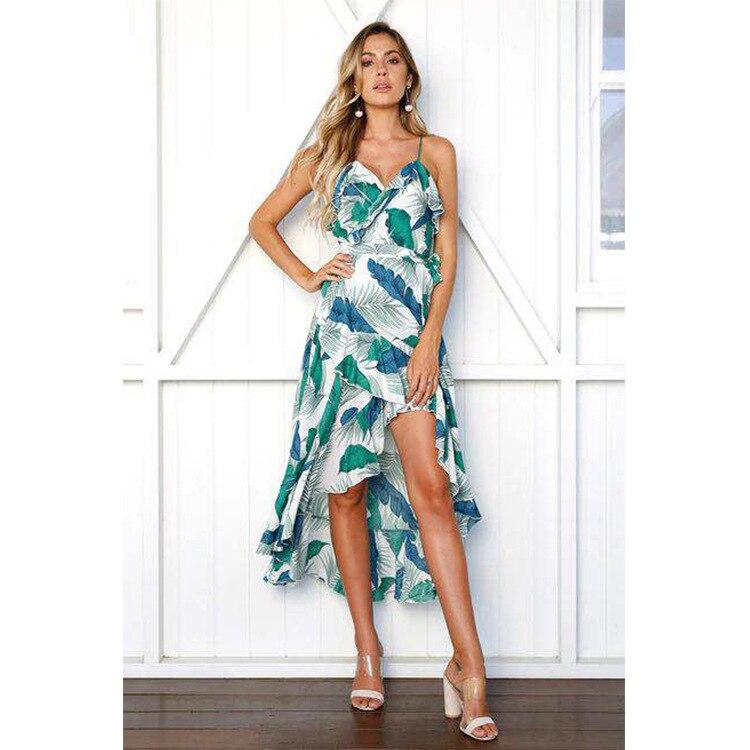 Summer Beach Wear Women Sexy Ladies Beachwear Dresses tong Backelss Summer Dress Boho Dresses Chic Floral Dress Long Strand Jurk