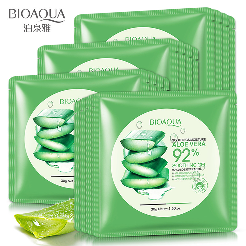 BIOAQUA 1pcs Aloe Vera Extract Facial Mask Skin Care Face Mask Whitening Hydrating Moisturizing Lasting Moisture Mask Skin Care