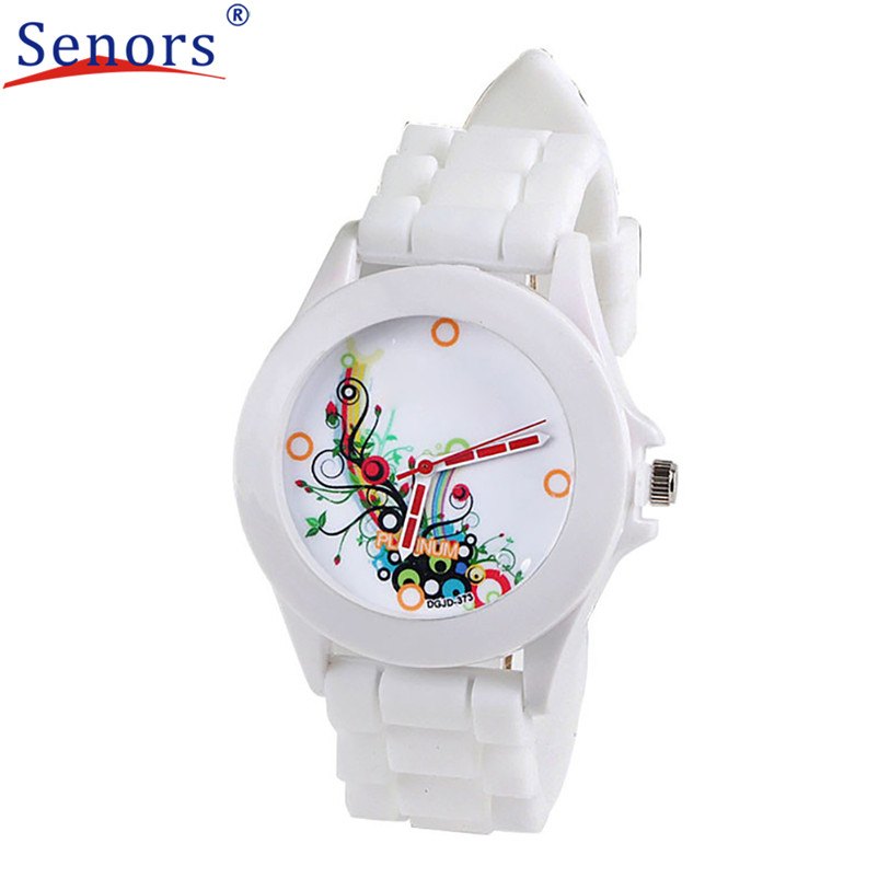HF 2016 Fashion Silicone Rubber Jelly Gel Quartz Analog Sports Women Wrist Watch relogio masculino relogio feminino SP22 ipa60r165p to 220f