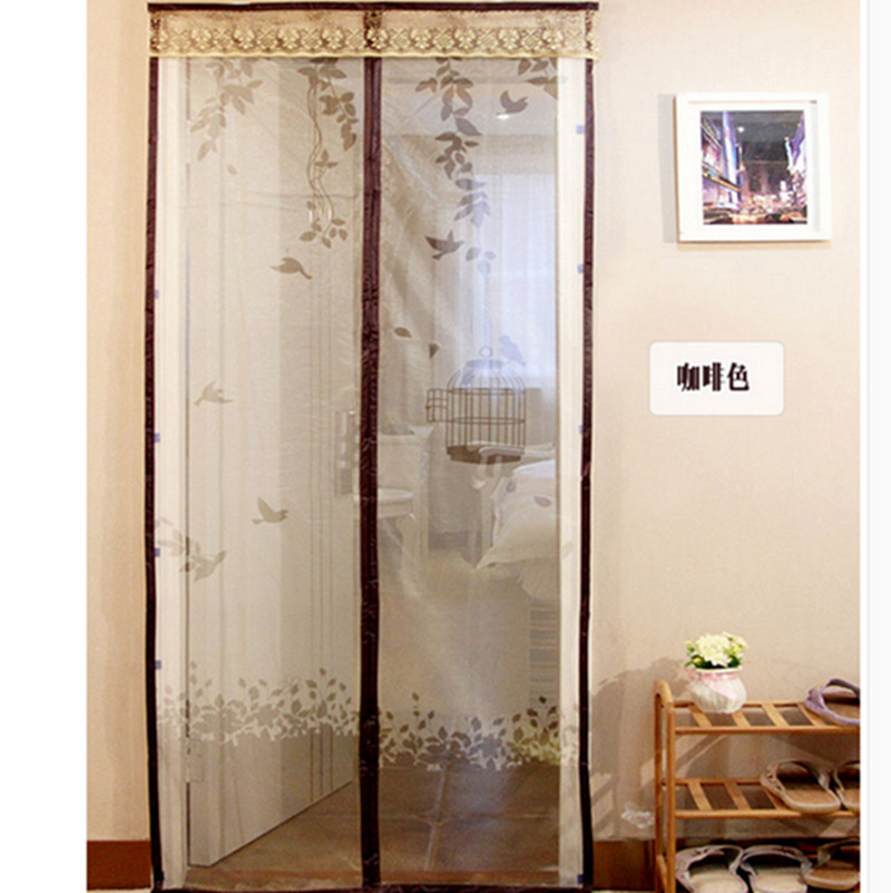 Summer Style Bugmesh Screen Door Curtains Magnetic Mesh Net Screen Anti Mosquito Bug Fly Home