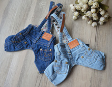 Denim shorts pet bib pants teddy dog clothes summer bo bear clothes yorkshire trousers jumpsuits
