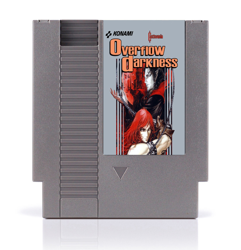 Castlevania Overflow Darkness 8 Bit Game Card for 72 Pins Game Console image