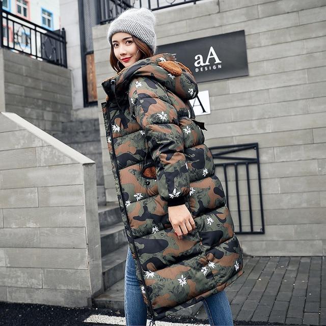 Militaire Militaire Militaire Imprimer Femmes 2017 Camouflage Parkas Parkas Parkas Parkas Hiver Mode Veste qAI7wx1SF