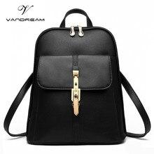 Известный бренд Для женщин Рюкзаки Твердые конфеты Винтаж Обувь для девочек Школьные сумки для черного цвета из искусственной кожи молодежи подросток рюкзак плечо сумочка