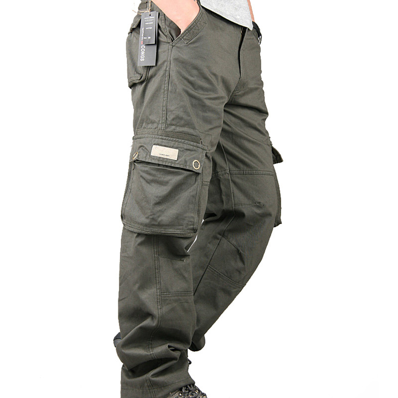 Men's Cargo Pants Casual Multi Pockets Tactical Military Pants Spring Autumn Cotton Army Long Trousers Pantalon Homme