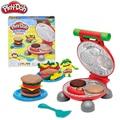 Оригинальный Play Doh красочные грязи вкусные гамбургер набор резиновая безопасная глина плесень для детей Детские игрушки слизи пушистый пла...
