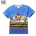 ELE Olá Desfrutar esporte Dos Miúdos roupas t-shirt das Crianças Cinco Noites no 4-14year Freddys Meninos camiseta de manga Curta
