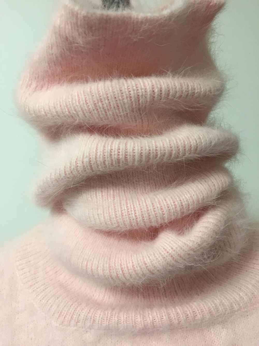 Водолазка 50 см натуральный норковый кашемировый свитер женский длинный кашемировый пуловер вязаный чистый норковый Воротник Бесплатная доставка JN237