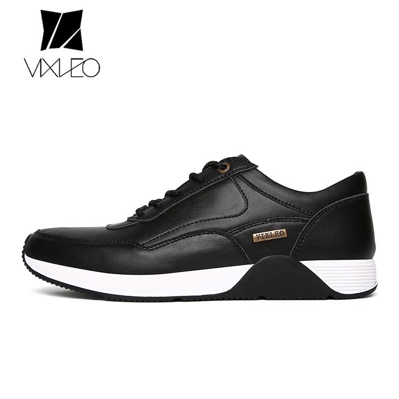 VIXLEO Man Genuine Leather Sport Running Shoes Breathable Light Outdoor Shoes Walking Sneakers Training Shoes printio футболка стрэйч