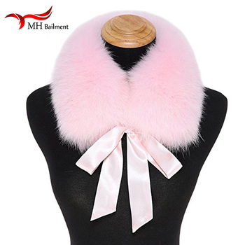 Real Fox Fur Collar Women 100% Natural Fox Fur Neck Scarf Winter Neck Warmer Coat Fur Collar Short Scarves Men E6 image
