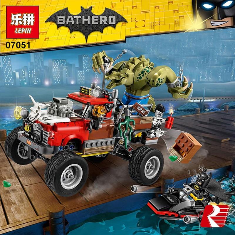 07051 Batman Movie Killer Croc Tail-Gator Man-Bat Bricks Figures Sets Building Block Toys Compatible Legoing Batman 70907 bela 10626 batman movie the joker balloon escape man bat building block toys children gifts batman 70900