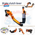 Motorbike CNC Folding&Extending Brake Clutch Levers Aluminum Clutch Brake Lever Orange For BMW R1200RT/SE 2010 2011 2012 2013