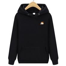 купить 2019  new brand pocket cat letter print hoodie autumn and winter new hoodie men's fleece hooded jacket по цене 266.39 рублей