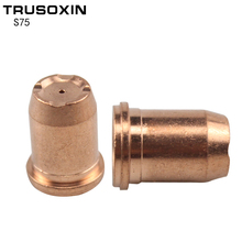 Electrode PR0117 10pcs 1.0MM/1.2MM Nozzle PD0114 for S75 Cutting Torch Plasma Cutting Consumables