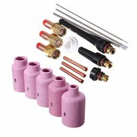 Wholesale Price 18 Pcs TIG Welder Torch Cup Collet Body Nozzle Tungsten Gas Lens Kit WP