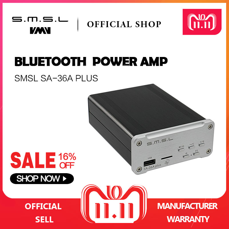 SMSL SA-36A Plus HIFI Audio Class D Amplifier 30W*2 TPA3118 Digital Power Amplifier Bluetooth AUX TF card/USB/U Disk Input free shipping high quality dn25 1 stainless steel 304 double acting air actuated pneumatic ball valve actuator