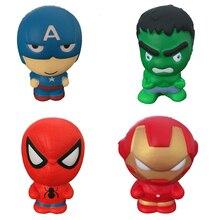 Супер герой мягкий медленно поднимающийся сквиш игрушка Jumbo Squeeze игрушки для снятия стресса для детей дропшиппинг
