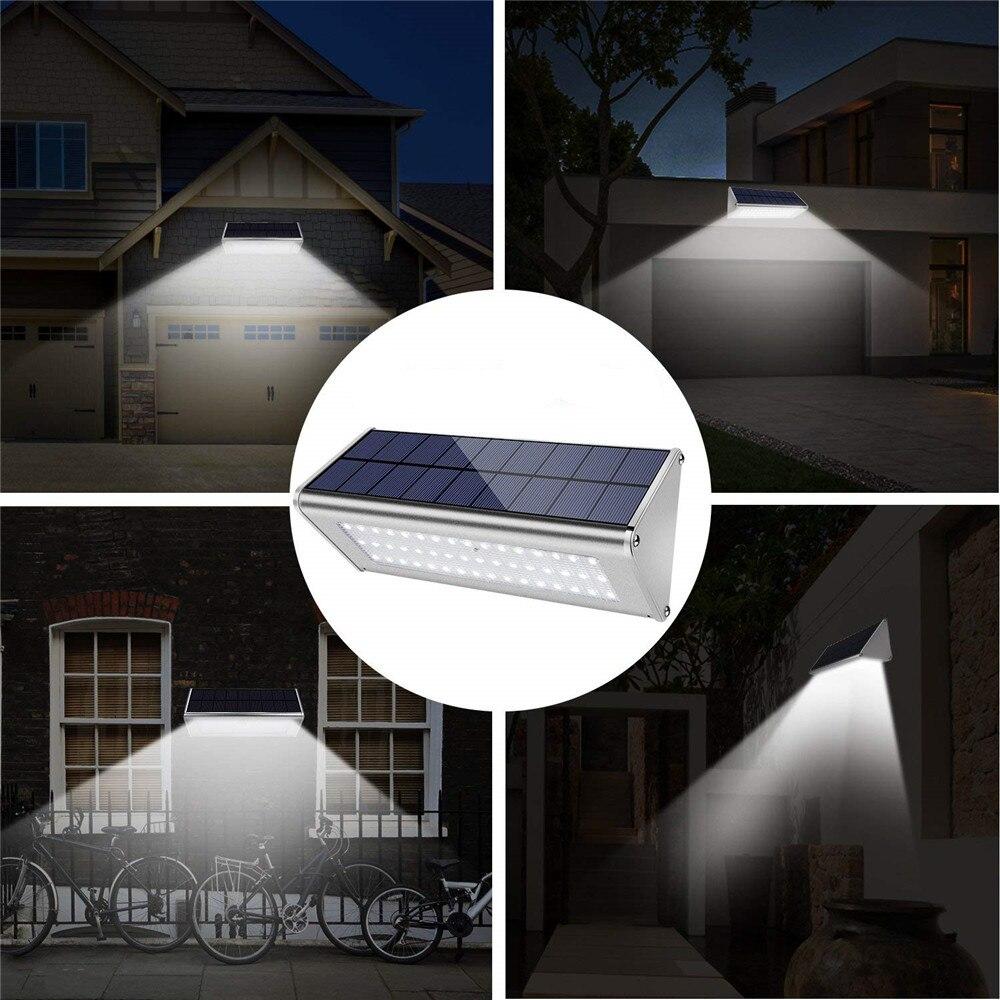 leds 700lm alumínio solar lâmpada jardim casa
