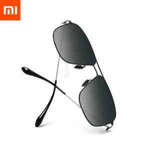 Image 2 - نظارة شاومي Mijia كلاسيكية مربعة الشكل عدسات مستقطبة تاك/نظارات شمسية برو حماية من الأشعة فوق البنفسجية ضد بقع الزيوت للاستخدام الخارجي