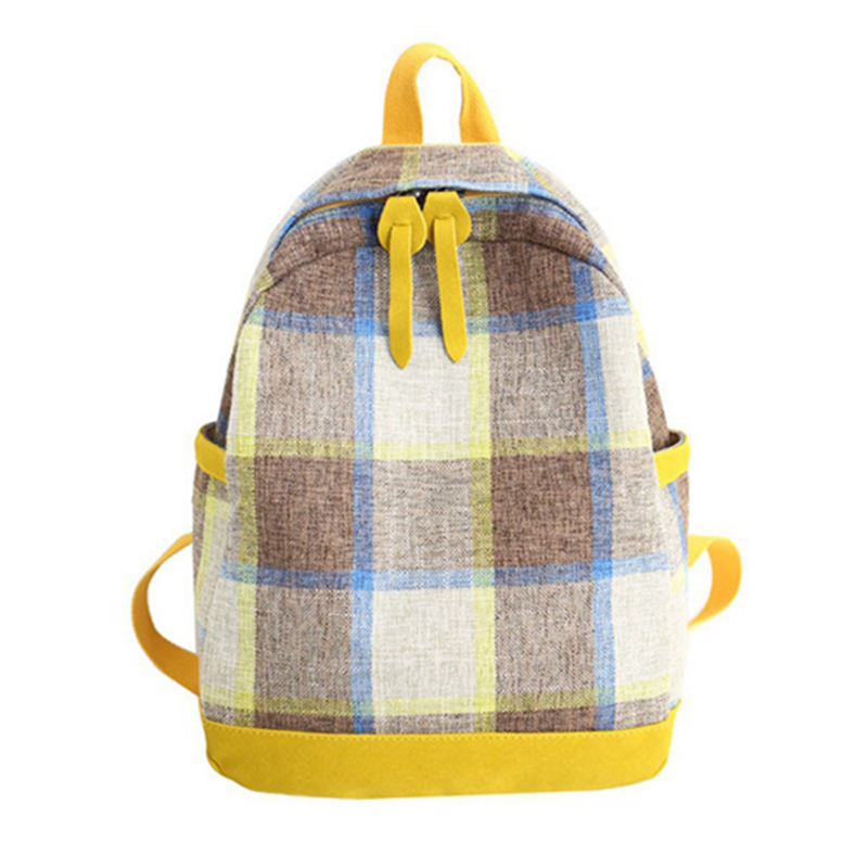 Women Hot Canvas Backpacks Plaid Schoolbag for Teenagers Girls Laptop Back Bag Fashion Backpack New 2019Women Hot Canvas Backpacks Plaid Schoolbag for Teenagers Girls Laptop Back Bag Fashion Backpack New 2019