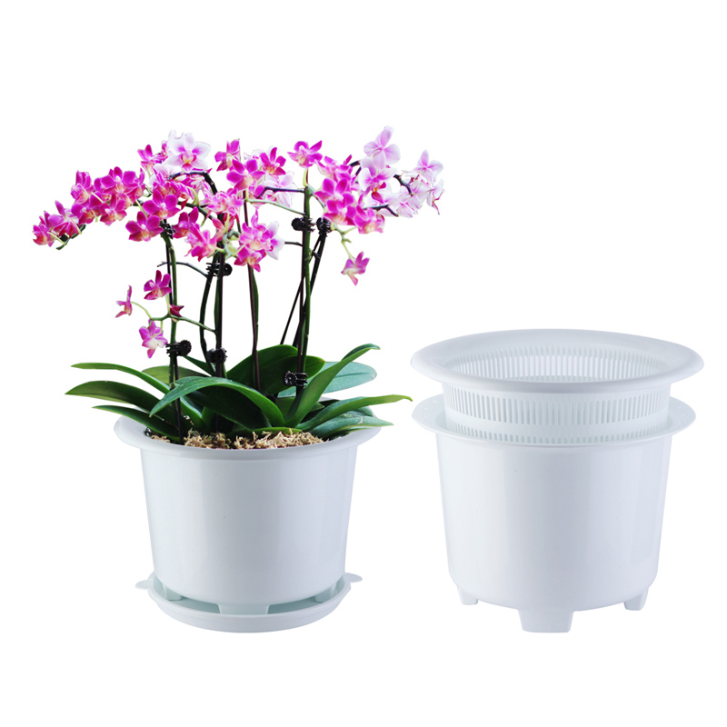 Meshpot Clear Plastic Orchid Pots With Holes 3 Pack 2pcs 7 Inch