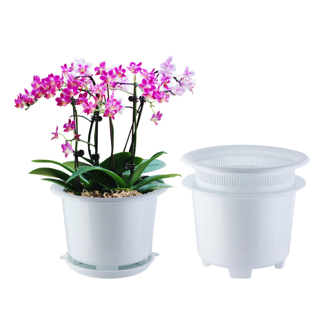 Charmant Meshpot 8 Inches Plastic Orchid Pot With Holes,Double Layers Garden Pot,Planter  Container