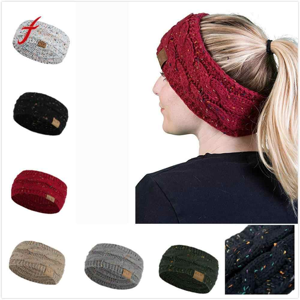 Men Winter Skullies Beanies Women Hair ball Knitting Headband Elastic Handmade Sport Hair Band Turban 2018 Female