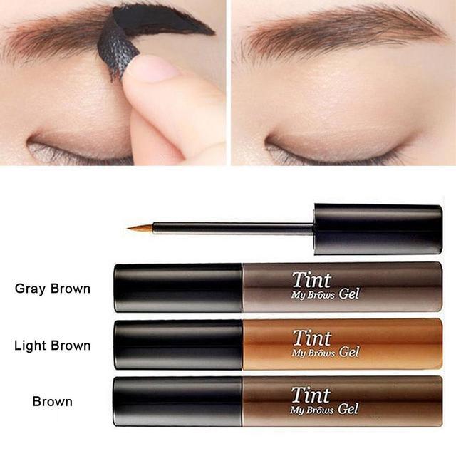 3 Color de larga duración Peel de la ceja tinte potenciador de cejas impermeable cejas Gel maquillaje profesional Gel de cejas tatuaje cosmético