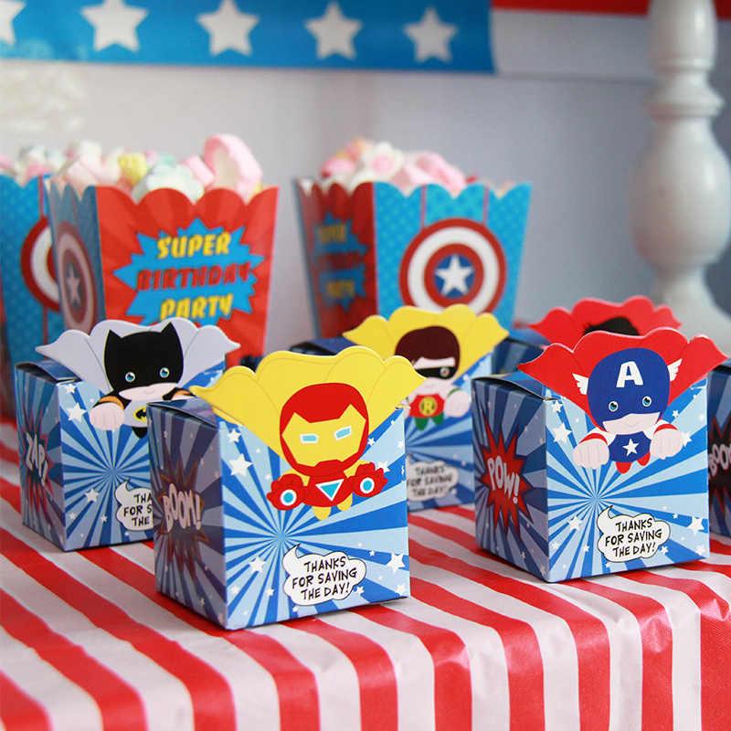 Captain America Avengers Pesta Ulang Tahun Dekorasi Balon Garland Rumbai Baby Shower Latar Belakang Anak Permen Latar Belakang