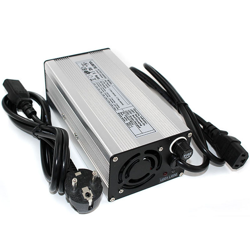 Accessories & Supplies 54.6V 3A Charger 48V Li-ion Battery Smart Charger 13S Aluminum Shell with Fan Battery Pack Charger Input 100VAC-240VAC Electronics