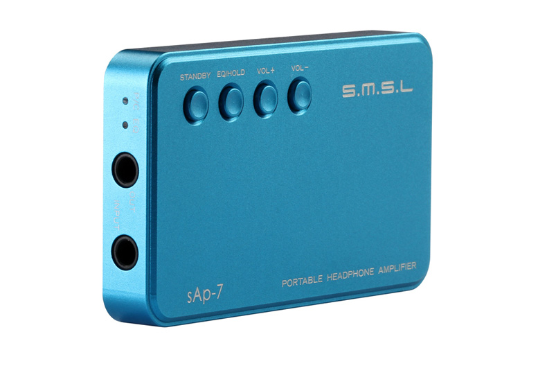 S.M.S.L SMSL SAP-7 Portable Headphone Amplifier 3.5 mm headphone jack 15 Hours Playing Time