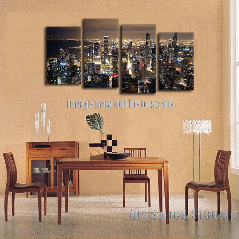 Print Picture More Detailed Picture About Chicago Skyline GIANT