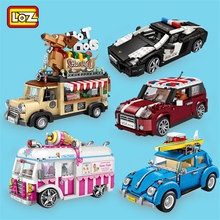 LOZ Blocks Ice Cream Truck Mini Car Toy Figurines Not Compatible Creator Technic mini building Series block Gift For Girl boys(China)